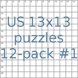 US 13x13 puzzles 12-pack no.1