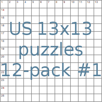 us 13x13 crossword-puzzles 12-pack no.1