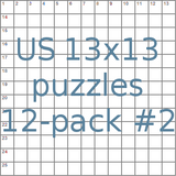 US 13x13 puzzles 12-pack no.2