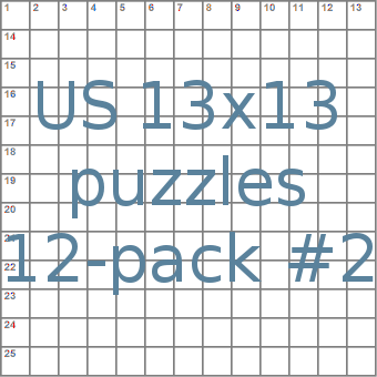American 13x13 puzzles 12-pack no.2