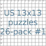 US 13x13 puzzles 26-pack no.1