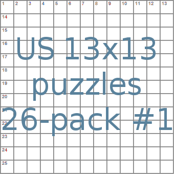 American 13x13 puzzles 26-pack no.1