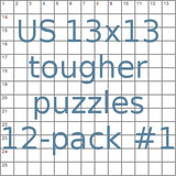 American 13x13 tougher puzzles 12-pack no.1
