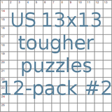 American 13x13 tougher puzzles 12-pack no.2
