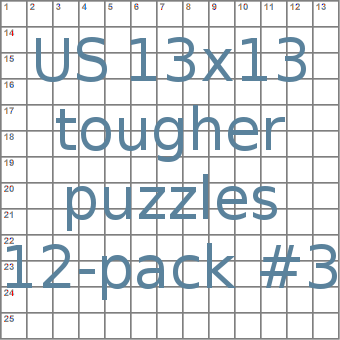 American 13x13 tougher puzzles 12-pack no.3
