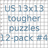 American 13x13 tougher puzzles 12-pack no.4