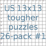 American 13x13 tougher puzzles 26-pack no.1
