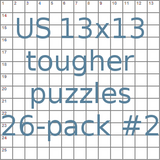American 13x13 tougher puzzles 26-pack no.2