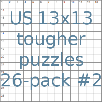 US 13x13 tougher puzzles 26-pack no.2