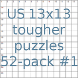 American 13x13 tougher puzzles 52-pack no.1