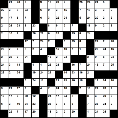 American 15x15 codeword puzzle no.303