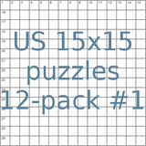 US 15x15 puzzles 12-pack no.1