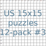 American 15x15 puzzles 12-pack no.3
