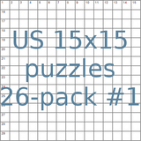 US 15x15 puzzles 26-pack no.1