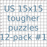US 15x15 tougher puzzles 12-pack no.1