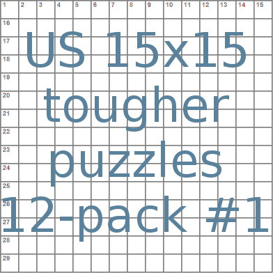 American 15x15 tougher puzzles 12-pack no.1