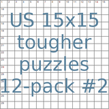 US 15x15 tougher puzzles 12-pack no.2