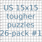 American 15x15 tougher puzzles 26-pack no.1