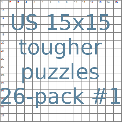 US 15x15 tougher puzzles 26-pack no.1