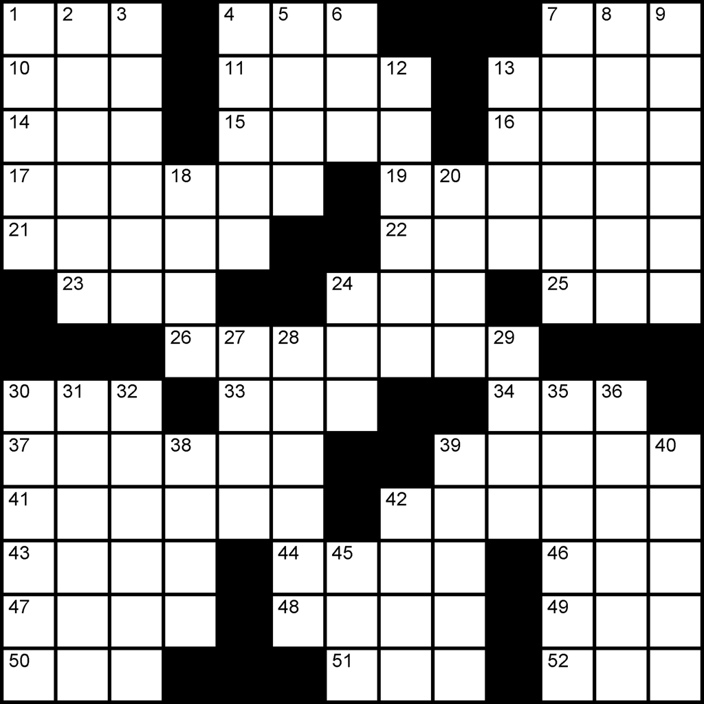 US 13x13 puzzle no.303 by a leading crossword puzzle maker