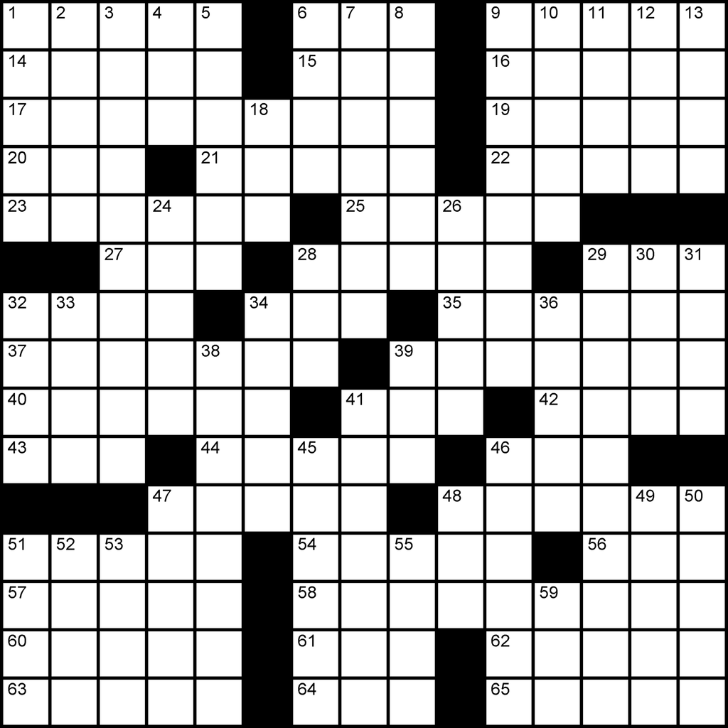 US 15x15 puzzle no.301 by a leading crossword puzzle maker