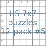 US 7x7 mini-puzzles 12-pack no.5
