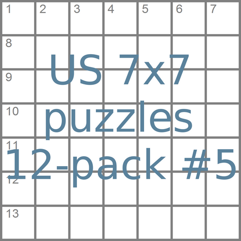 us 7x7 mini-crossword-puzzles 12-pack no.5