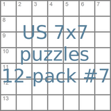 US 7x7 mini-puzzles 12-pack no.7