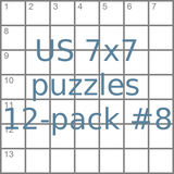 US 7x7 mini-puzzles 12-pack no.8