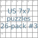 American 7x7 mini-puzzles 26-pack no.3
