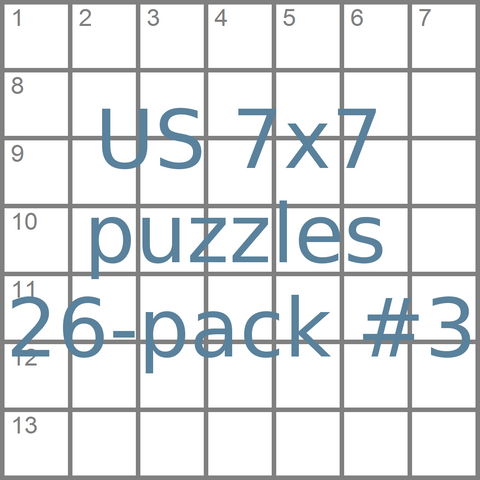 US 7x7 mini-puzzles 26-pack no.3