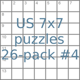 US 7x7 mini-puzzles 26-pack no.4