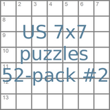 US 7x7 mini-puzzles 52-pack no.2