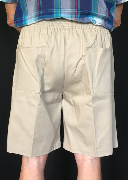 Mens Elastic Waist Shorts in 4 Colors (rear view)