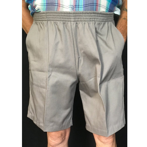 Mens Elastic Waist Shorts in Black, Khaki, Navy, Grey