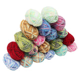 20 Piece Multicolour Knitting Crochet Yarn Set by Kurtzy - Assortment Colourful Acrylic Soft Yarn - Thick Yarn Multicolour Bundle for Knitting Jumpers, Cardigans, Clothes, Blankets and More