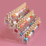 5 Tier Transparent Nail Polish Stand