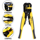 Kurtzy Wire Stripper Plier - 5 in 1 Multifunctional Crimping Tool - Automatic Terminal Ratchet Crimping Plier - Self Adjusting Cable Cutter for Stripping, Crimping and Cutting up to 24 AWG Hand Tool