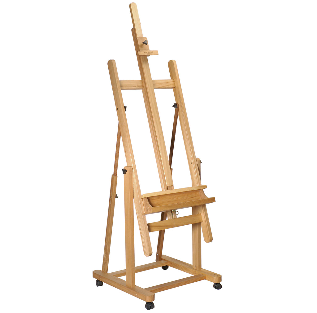 "Artist Easel 87.40"" (7.28ft) – Large Adjustable Wooden Studio Easel can hold 90"" of Canvas – Ideal for Painting Drawing Wedding Outdoor Sketching Beech Wood Display Exhibition (222cm)"