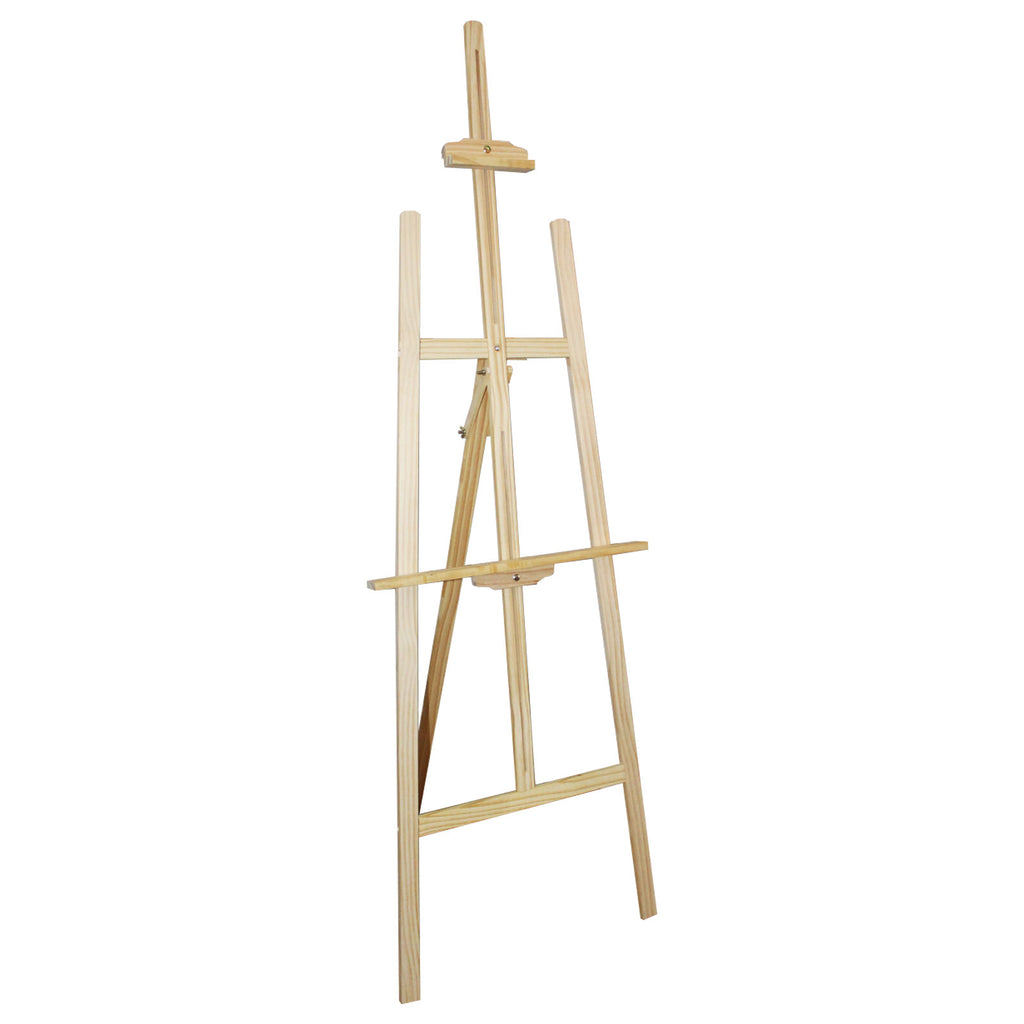 Easel - 137cm Tall Adjustable Wood Easel for Kids and Adults- Wooden Art Display Canvas Painting Easel by Kurtzy - Easy to Assemble - Fits Small and Large Canvas's - Large Easels
