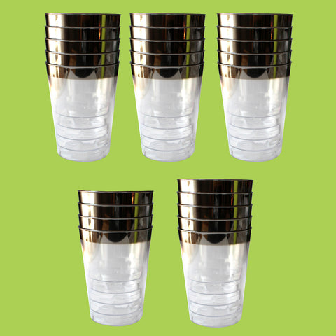 24pc Plastic Crystal Style Cup Tumbler
