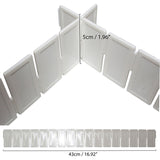 Kurtzy Cut To Size Any-way Slot Together Drawer Organiser Dividers - Pack of 7