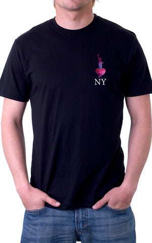 Statue of Liberty NY White Text Unisex T-Shirt