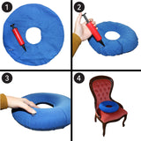 "Inflatable 15"" Donut Cushion with Pump"