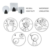 Self adhesive hooks (28 Pcs) - Stainless Steel wall hooks for Jewellery ,kitchen, bathroom, office closet-No Nail installation holds 8 LBS -Hooks Size Circle 3.5cm ,Square 4.7cm ,Smaller square 2.5cm