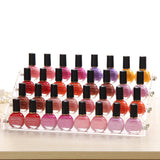 4 Tier Nail Polish Stand - Transparent Acrylic Makeup Storage Organiser ? Table Top Nail Polish Display Rack Holds 32 Bottles