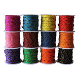 4m Ric Rac Ribbon 12 Rolls Fabric Edge Trim Ric-Rac Ribbon Braid Trimming Craft Ribbon Zig-Zag Flange Piping Cord Trim - Upholstery Edging Lace Trim, Saree Border, Draperies, Pillow, Scrapbooking, Paper Craft, Card Decorative Ribbon Trim