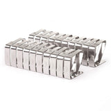 Tablecloth Clips (20 Pack) - 12 Small (4.5 cm x 4 cm), 8 Large (7 cm x 8 cm) Picnic, Outdoor, Garden Restaurant, Dinner Buffet Table Cloth Holder Stainless Steel Flexible Tight Fit Tablecover Clamps