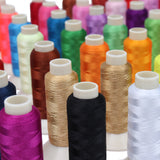 CURTZY  Sewing Thread Set - 63 Pcs Overlocking  Polyester Machine Embroidery Thread (200 Yards )- Ideal  for all sort of Embroidery  works and Brother / Babylock / Janome / Singer / Kenmore Sewing machines