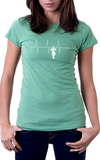 Pull Up Heart Beat Women's Fit T-Shirt